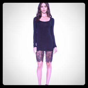 Never worn, soft as a t-shirt dress with lace.